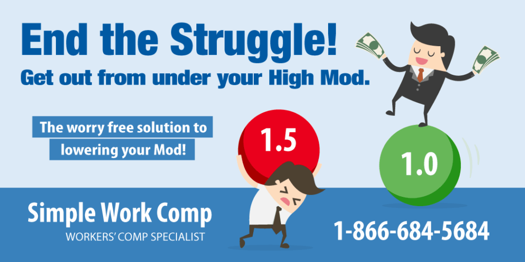 how to lower your mod, lower work comp, simple work comp,
