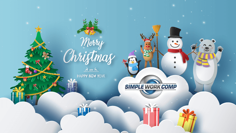 Simple Work Comp Merry Christmas